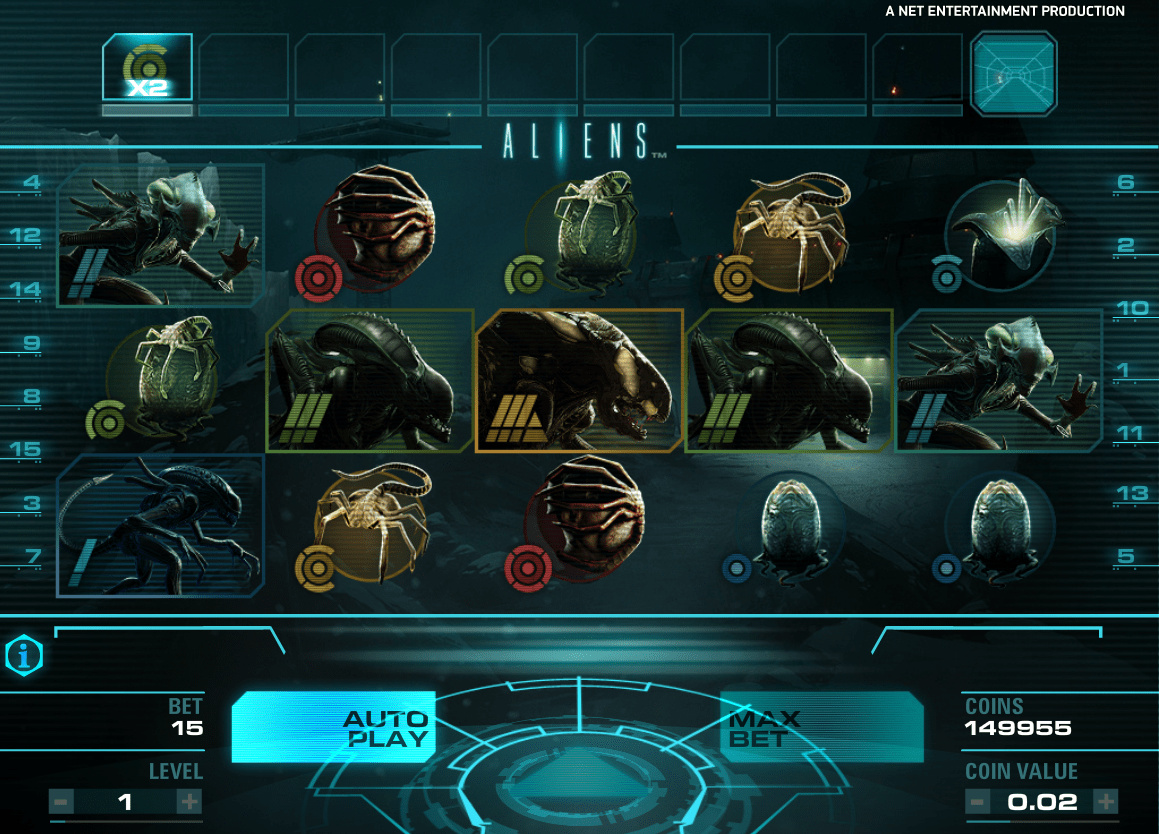 NetEnt Aliens Screenshot 1