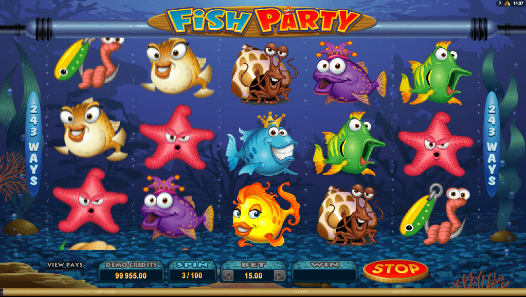 Microgaming Quickfire Fish Party Screenshot 1