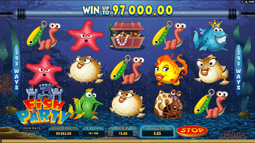 Microgaming Quickfire Fish Party Screenshot 3