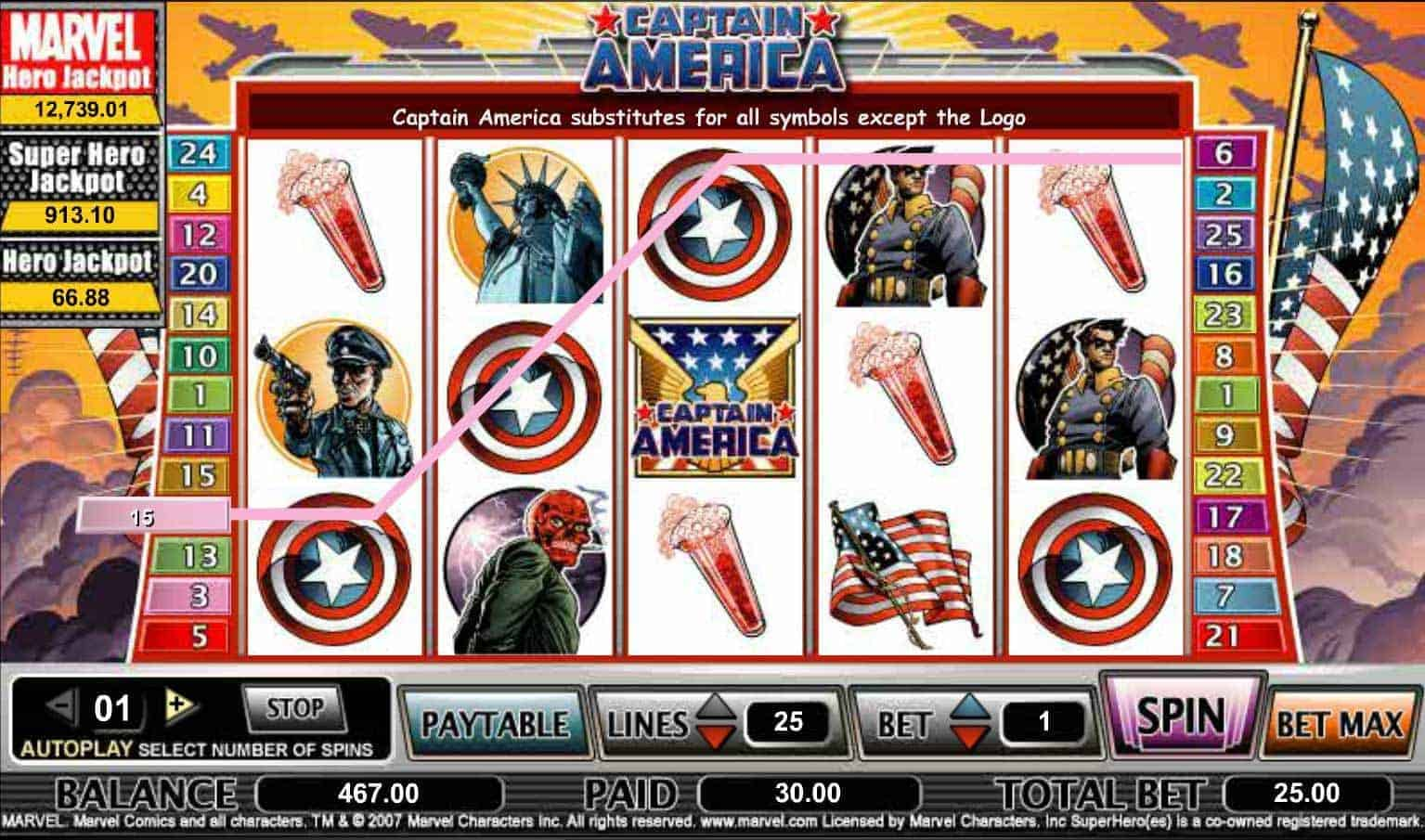Cryptologic Captain America Screenshot 1